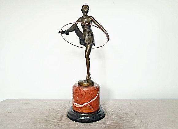 Alonzo Bronze Dancing Girl with Hoop