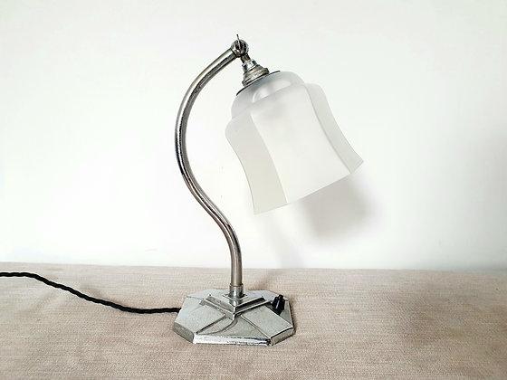 Bell Shade Chrome Lamp