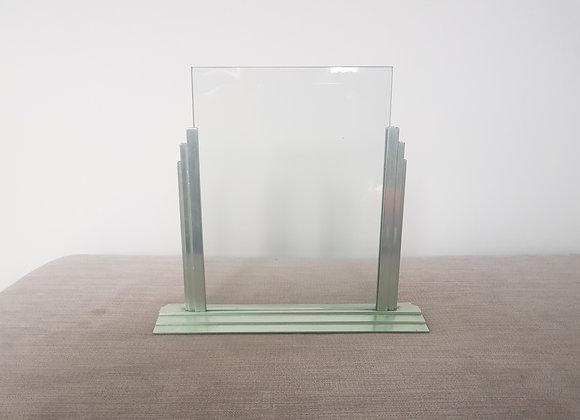 Large Chrome Stepped Photo Frame