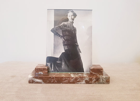 Portrait Red Marble Photo Frame