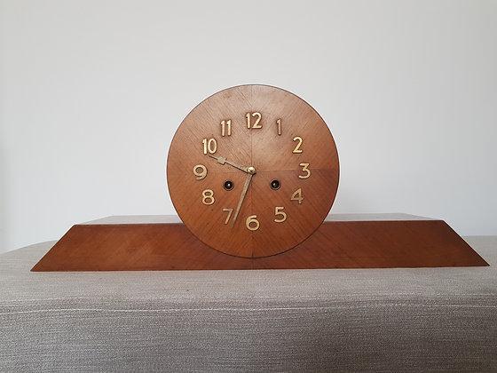 Large Walnut Mantle Clock