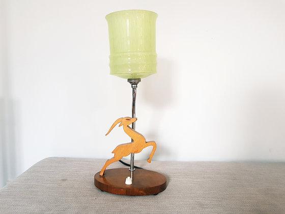 Wooden Gazelle Lamp