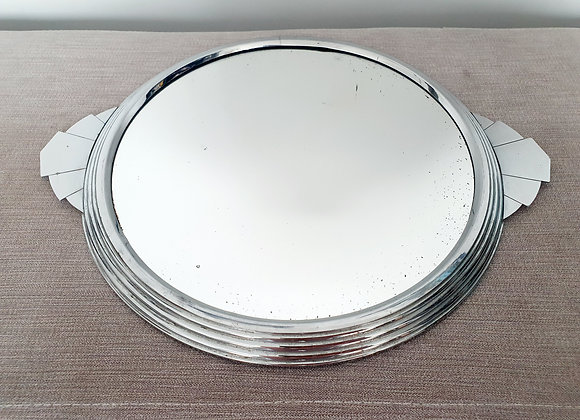 Chrome Drinks Tray with Fan Handles