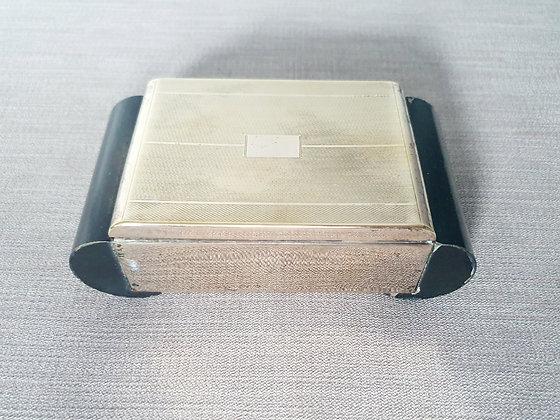 Gold Metal & Ebonised Wooden Box