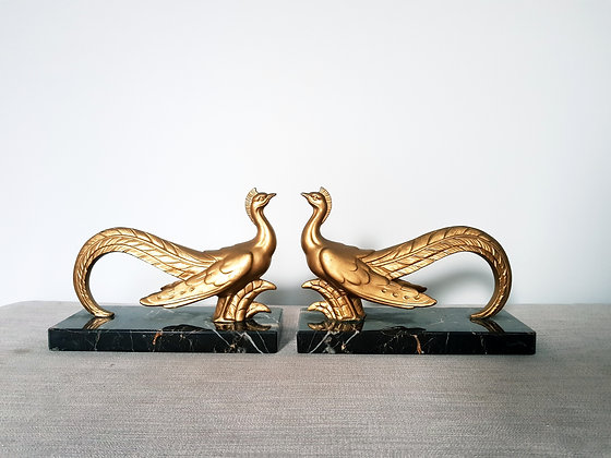 Stylised Bird Bookends