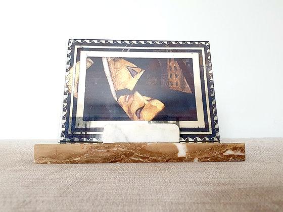 Brown & White Marble Photo Frame