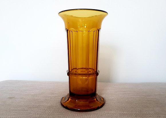 Davidson Amber Column Vase