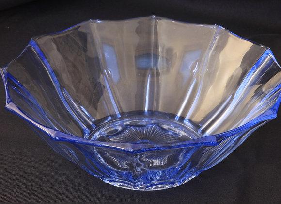 Czech Blue Glass Bowl