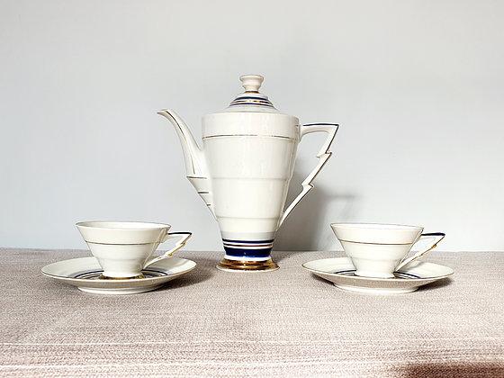Zig Zag Tea Set for Two
