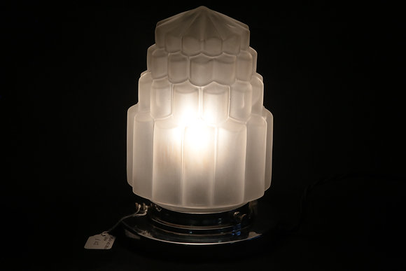 Original French Art Deco Skyscraper Lamp