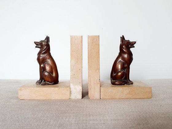 Art Deco Alsatian Dog Bookends