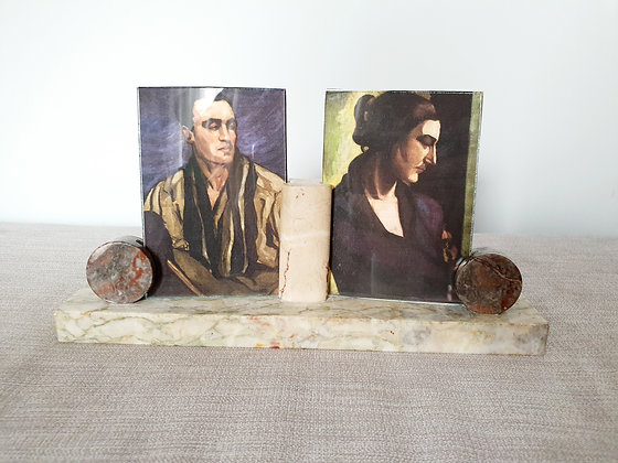 Double Marble Photo Frame