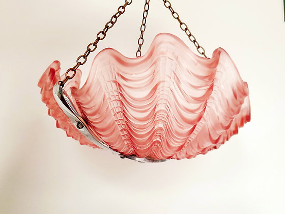 Pink Shell Odeon Ceiling Light Shade