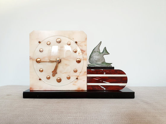 Marble Fish Clock