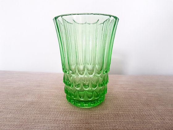 Green Glass Celery Vase