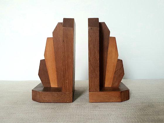 Wooden Fan Bookends