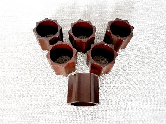 Set of 6 Bakelite Napkin Rings