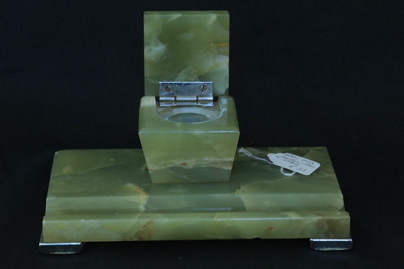 Green Onyx Inkwell & Pen Stand