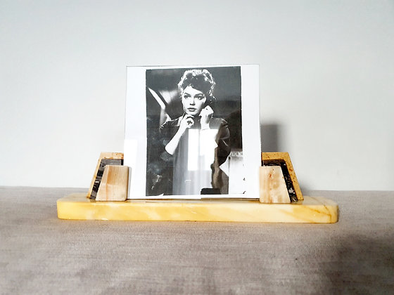 Cream & Grey Marble Photo Frame