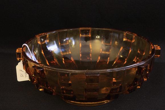 Stolzle Amber Glass Bowl