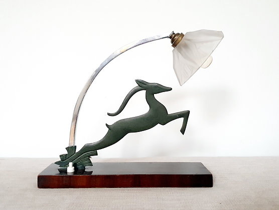 Leaping Gazelle Lamp