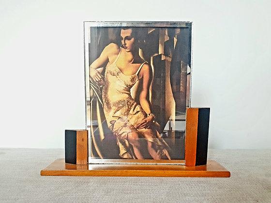Asymmetric Black Wooden Frame