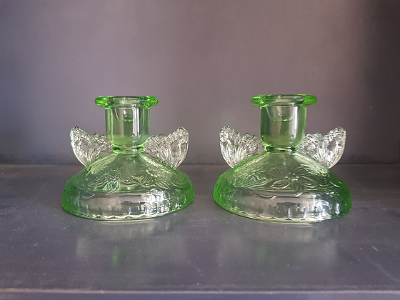 Sowerby Green Butterfly Candlestick Holders