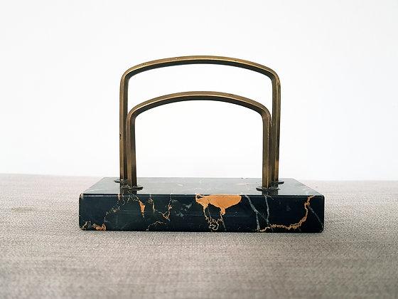 Tiger Marble Letter Rack
