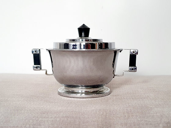 Chromium Plated Sugar Bowl
