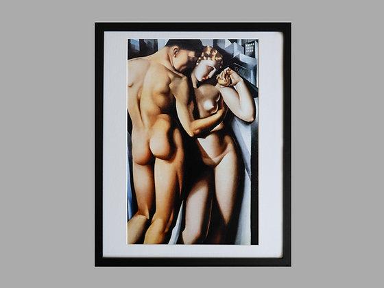 Tamara de Lempicka Framed Print Adam and Eve