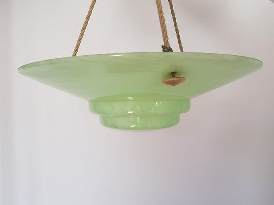 Green Mottled Glass Ceiling Light