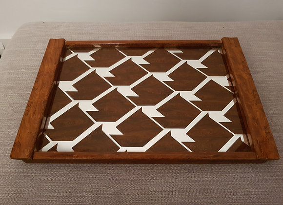 Wooden Mirrored Tray
