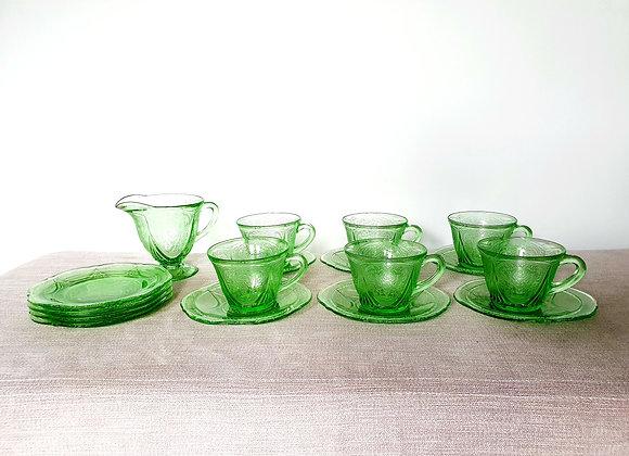 Uranium Glass Tea Set