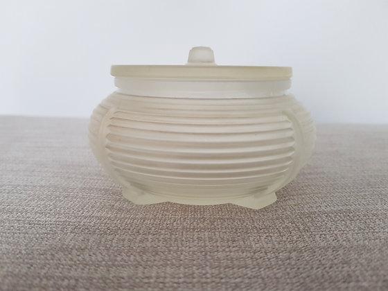 Glass Trinket Pot