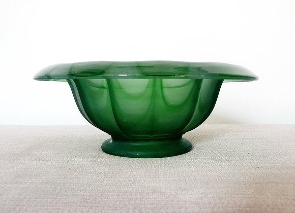 Davidson Green Cloud Glass Bowl