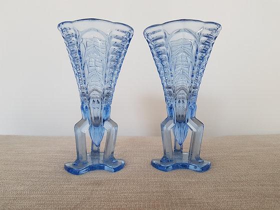 Pair of Stölzle Rocket Vases