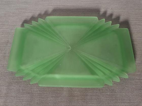 Bagley Bedford Uranium Glass Tray