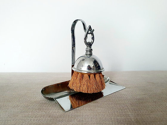 Art Deco Crumb Brush and Tray Chrome Plated 1930s for sale UK