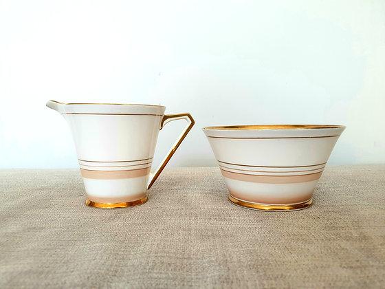 Art Deco Ceramics Milk Jug & Sugar Bowl 1930s for sale UK