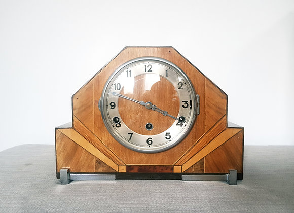 Westminster Chimes Walnut Mantel Clock