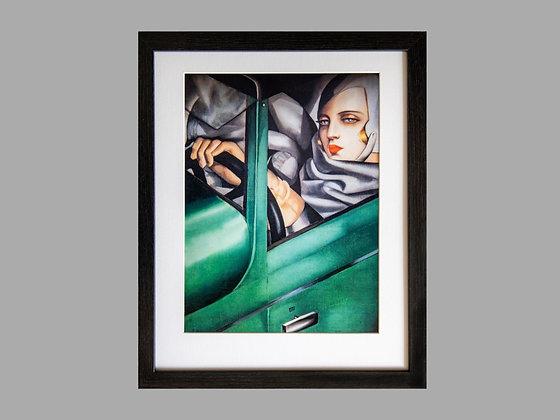 Tamara de Lempicka Framed Print Self Portrait