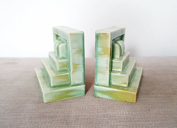 Ceramic Stepped Bookends