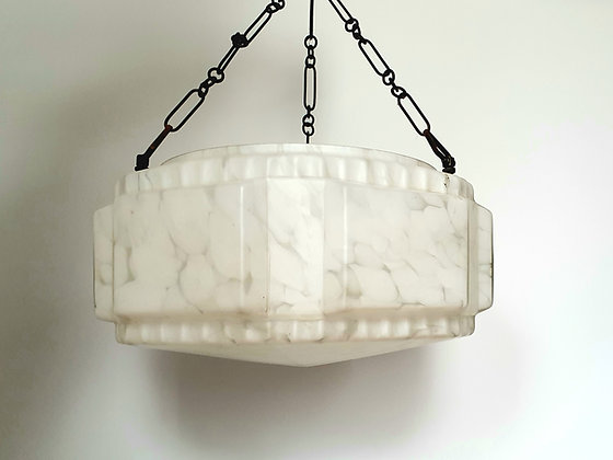 White Hexagonal Ceiling Light Shade