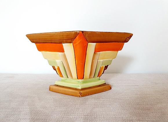 Art Deco Myott Diamond Vase