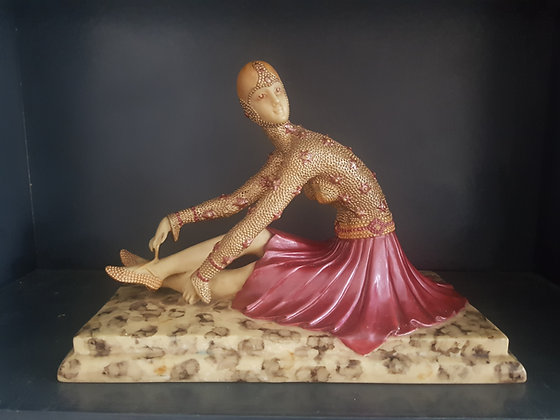 Reproduction Chiparus Style Lady Figure