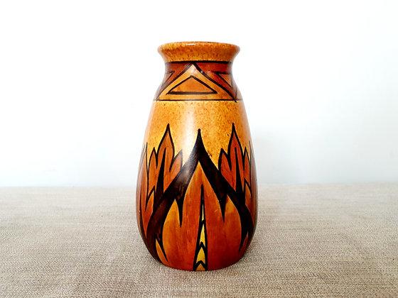 Clews Chameleon Ware Orange Vase