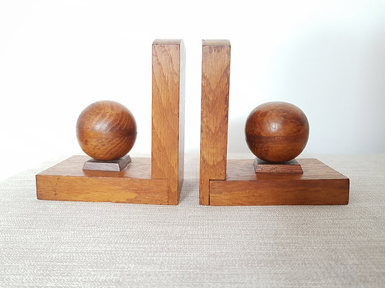 Pair of Wooden Bookends