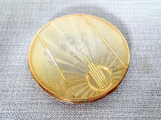 Zenette Goldtone Compact Mirror