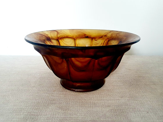 Davidson Amber Cloud Glass Bowl