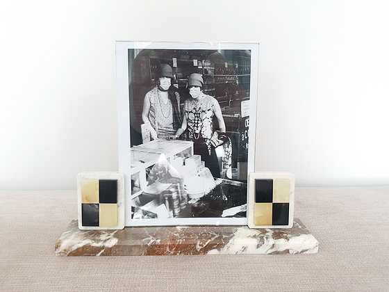 Chequerboard Marble Photo Frame